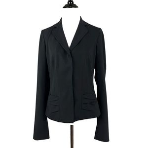 Short Fitted Navy Blazer by Elie Tahari